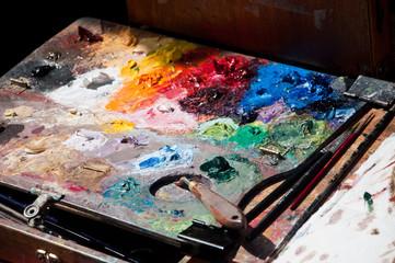 Palette de peintre place du Tertre à Montmartre/Paris