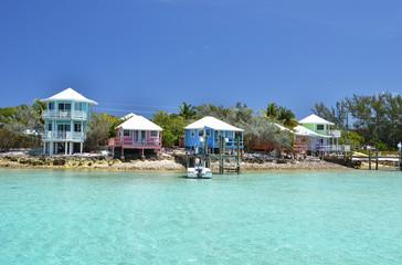 Wall Mural - Colorful houses at Exuma Cays, Bahamas