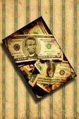 Printed kitchen splashbacks Vintage Poster Retroplakat - Schräger Dollar