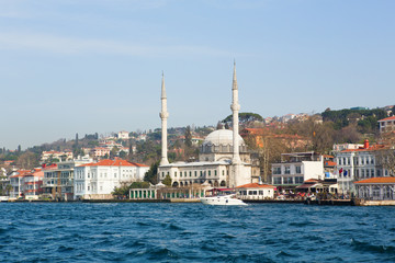 Cityscape of Istanbul with a mosque