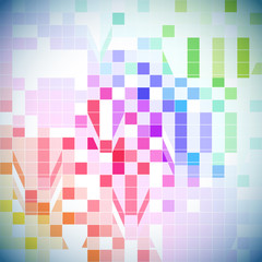 Abstract colorful tile background