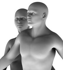 MF9 Paar Mann und Frau virtuell HiRes raytrayced