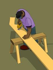Man Using Jigsaw