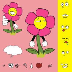 flower funny cartoon set9
