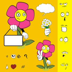 flower funny cartoon set6