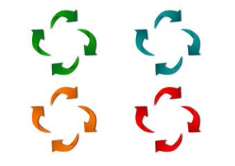 frecce colorate riciclaggio