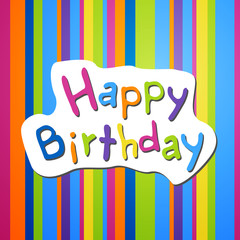 Vector Illustration of a Birthday Background