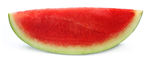 Sliced watermelon over white background