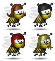 Bienen Vektor Grafik Set
