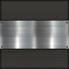 Metallplatte auf Carbon