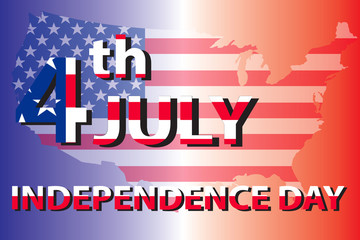 background showing 4 of july