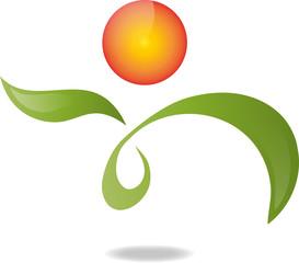 Logo, 3D, Mensch, Heilpraktiker, Symbol, Vektor