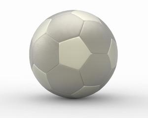 metal soccer football 3D