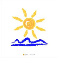 Sole e Mare vettoriale