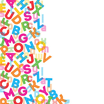 Colorful alphabet background stock vector