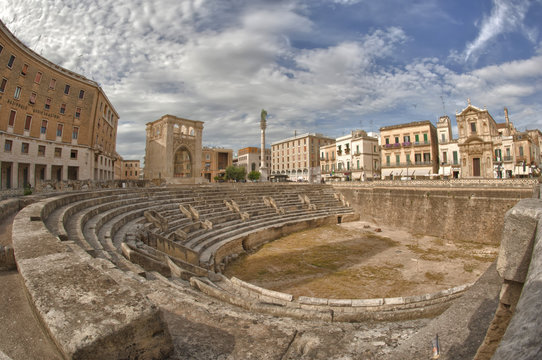 Amphiteater of Lecce Town, Italy