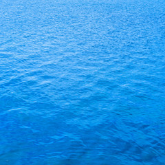 Poster Mer / Ocean Blue water surface background, texture pattern
