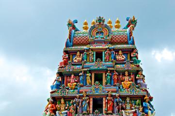 Foto op Plexiglas Singapore Hindu Tempel in Singapore