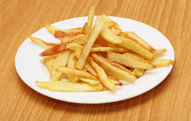 fried potato slices, potato chips
