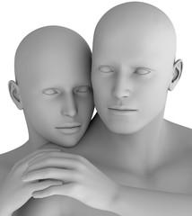 MF15 Paar Mann und Frau virtuell HiRes raytrayced