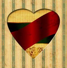 Papiers peints Affiche vintage Vintage Heart - Red Label