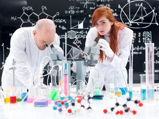 people working in chemistry lab
