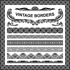 Vintage borders - vector set
