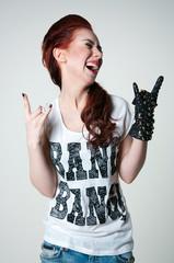 Rock shouting girl