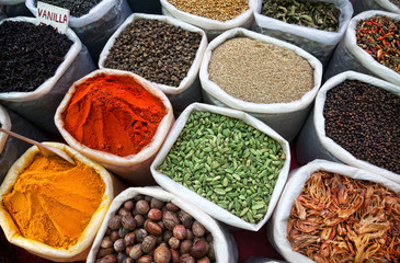 Keuken foto achterwand India Indian colored spices