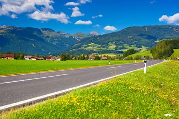 Wall Mural - Alps road