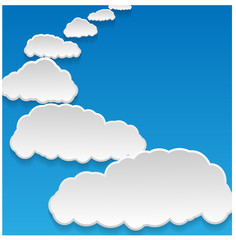 Poster Hemel clouds background