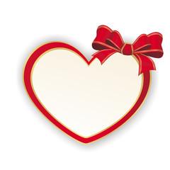 Herz mit Schleife in rot