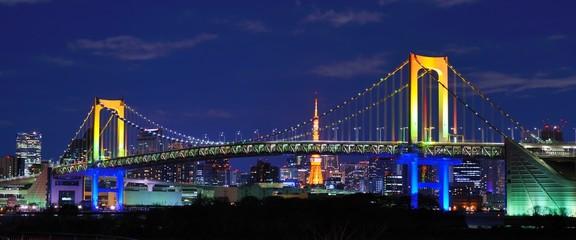 Staande foto Tokyo Rainbow Bridge