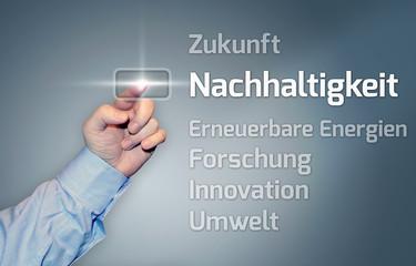 """Virtueller Touchscreen """"Nachhaltigkeit"""""""