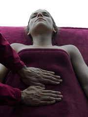 Wall Mural - abdomen massage therapy