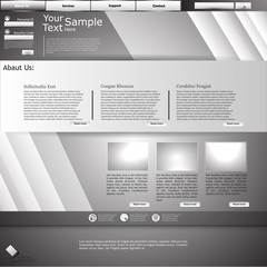 Industrial website template design with metallic elements