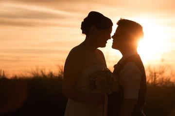 Lesbian Couple at Sunset