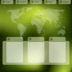 Website template design in green