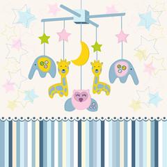 carousel baby for crib vector