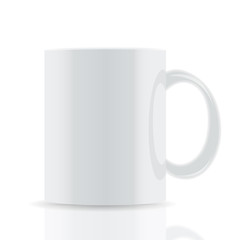 white vector cup isolated on white background