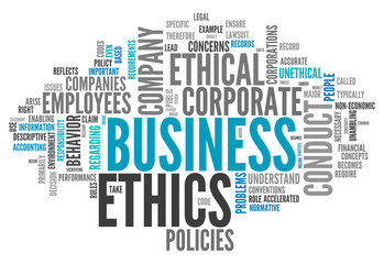 """Word Cloud """"Business Ethics"""""""