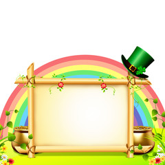 st patrick day background with rainbow