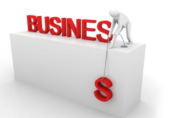 3d person raise business