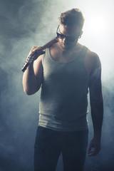 Rock Artist Walks off the Stage