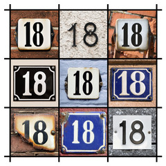 Collage of House Numbers Eighteen
