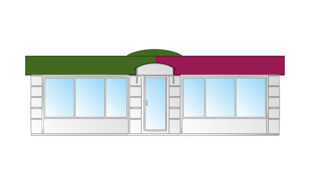 Kiosk vector illustration