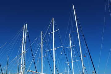 Sailing ship masts