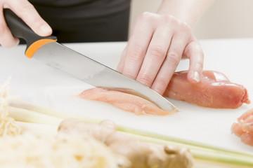Making a Chicken Dish