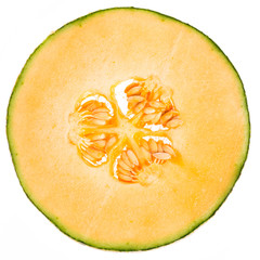 Scheibe einer Netzmelone