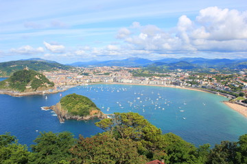 Fototapeta premium Krajobraz San Sebastian